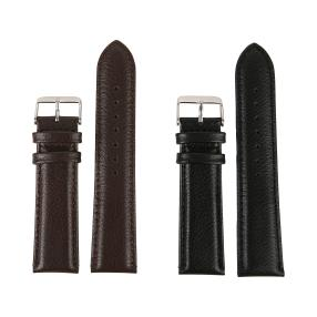 2 Ersatzlederbänder 22mm breit schwarz + braun