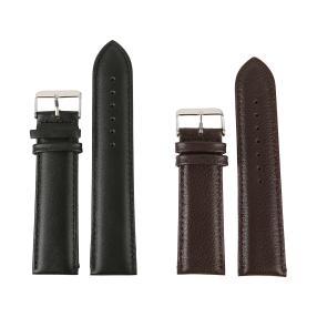 2 Ersatzlederbänder 24mm breit schwarz + braun