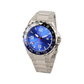 "NAUTEC Herrenuhr ""Coastguard 2"" blau GMT-Zeiger"