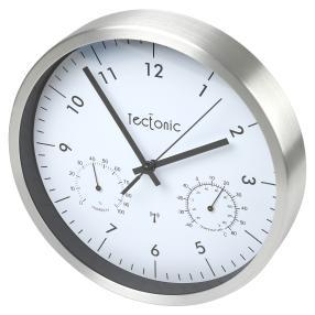 Tectonic Funk-Wanduhr Thermometer/Hygrometer
