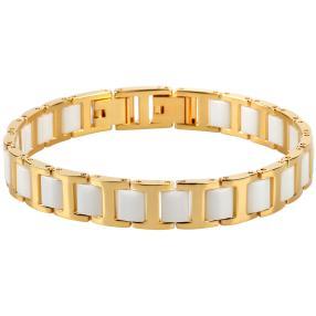 Alexander Milton Armband, golden/weiß