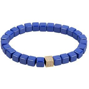 Alexander Milton Armband, Keramik blau