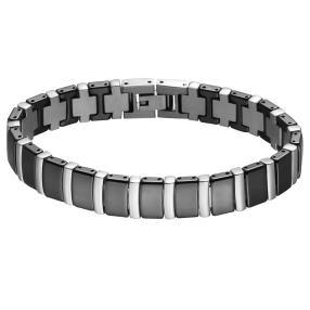 Alexander Milton Armband, schwarz/silber