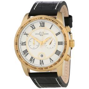 Spears & Walker Herren Chronograph gold Lederband