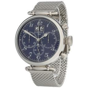 KIENZLE Retro-Chronograph Milanaiseband blau
