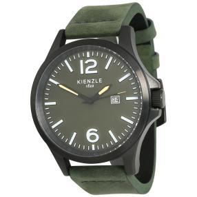 KIENZLE Pilot-Watch Lederband grün Vintage