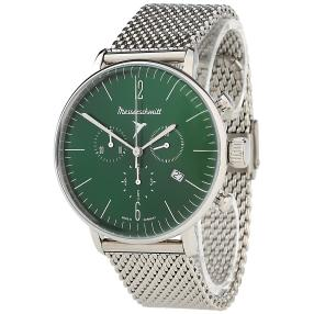 """Messerschmitt Herren-Chronograph """"Bauhaus"""" grün"""