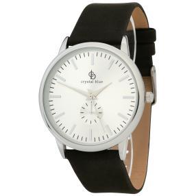 Crystal blue Unisex-Armbanduhr silber/schwarz