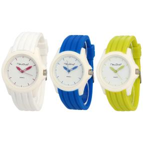 Newave 3er Uhrenset, Weiß, Blau, Gelb