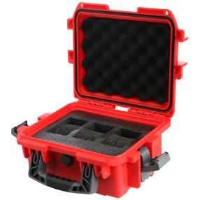 INVICTA 3er Uhrenkoffer rot Kunststoff