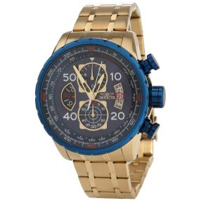 "INVICTA Chronograph ""Aviator"" Quarz IP-vergoldet"
