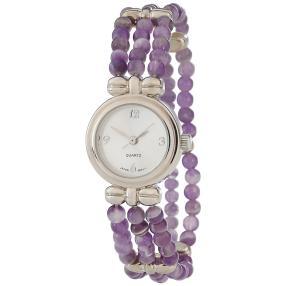 Damen-Armbanduhr mit Amethysten