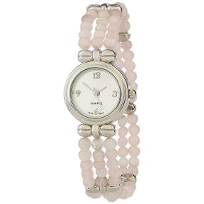 Damen-Armbanduhr mit Rosenquarz