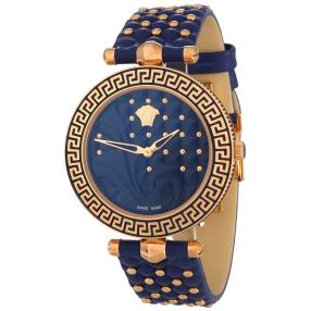 """Versace Damen Quarzuhr """"Vanitas"""" blau"""