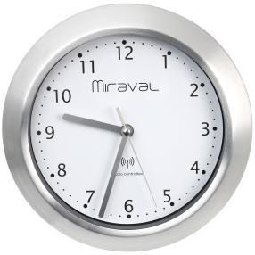 Miraval Funk-Wanduhr silber, inkl. Batterie