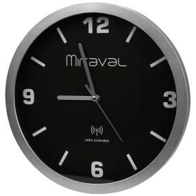 Miraval Funk-Wanduhr Zifferblatt schwarz