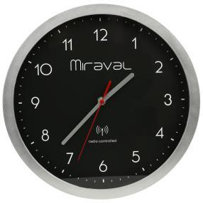 Miraval Funk-Wanduhr schwarz inkl. Batterie