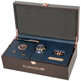 EARNSHAW 5tlg. Herren Uhrenset Longitude Moonphase
