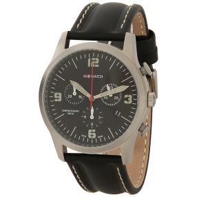 Herren-Chronograph M WATCH mit Lederband
