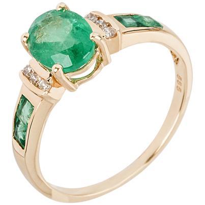 Ring 585 Gelbgold Smaragd