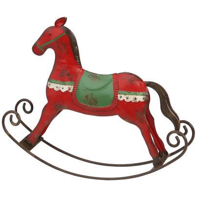 Schaukelpferd rot-grün, Eisen