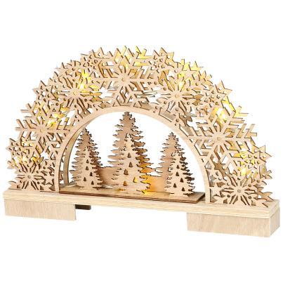 LED-Holzbogen Tannenbaum