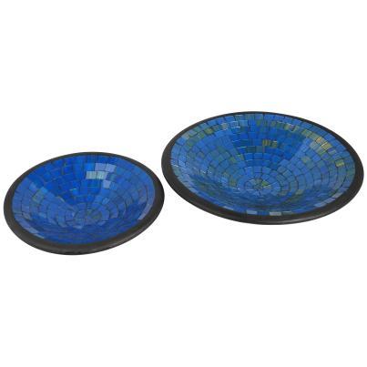 Darimana Mosaikschalen blau-gold 2er-Set