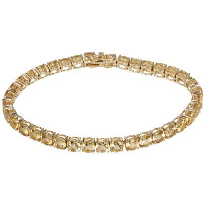 STAR Armband 585 Gelbgold AAA Aquamarin gelb