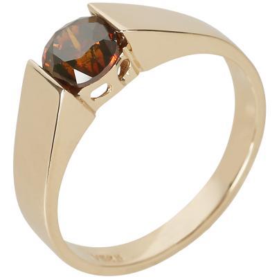 Ring 585 Gelbgold Brillant rot ca. 1,0 ct.