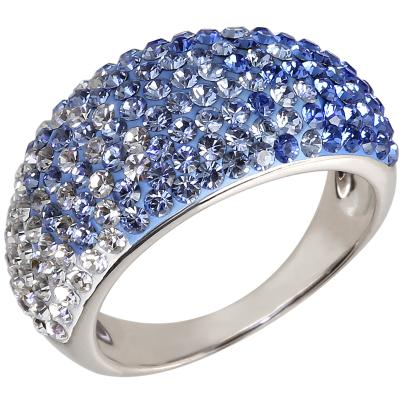 Ring 925 Sterling Silber Swarovski Elements blau