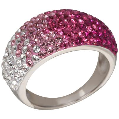Ring 925 Sterling Silber Swarovski Elements pink