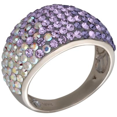 Ring 925 Sterling Silber Swarovski Elements lila