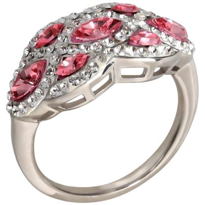 Ring 925 Sterling Silber Swarovski Elements rosa