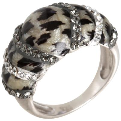 Ring 925 Sterling Silber Swarovski Elements Leo