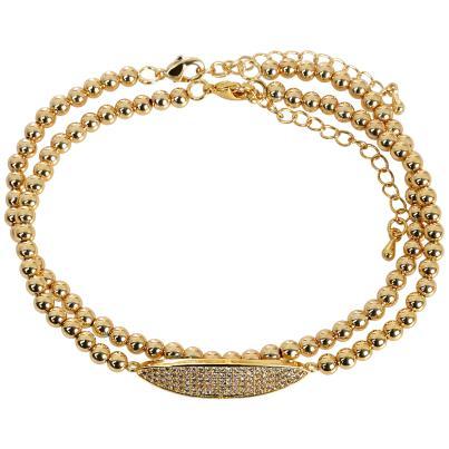 ELISABETH NAEEM Armband, Kupfer gelbgoldfarben