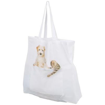 Einkaufstasche Tiere, weiß