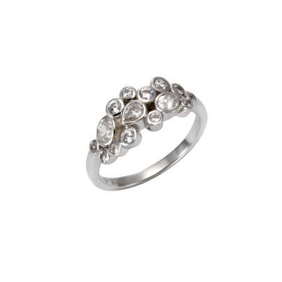Celesta Silber Ring 925 Sterling Silber Zirkonia | 1 2 3.tv