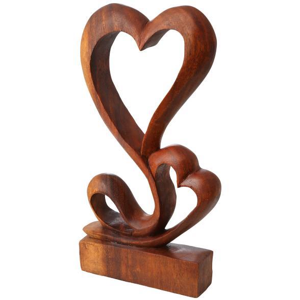 Darimana Suarholz-Skulptur Herz