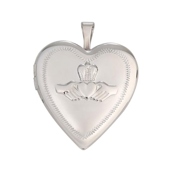 Medaillon 925 Sterling Silber, Herzform