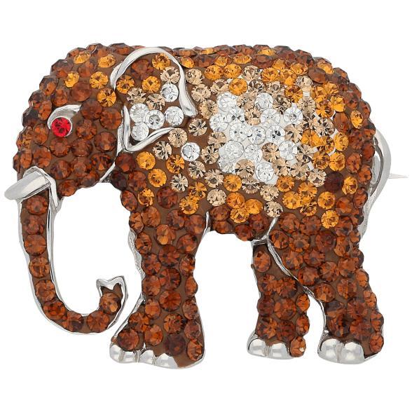 Brosche Elefant, Swarovski Elements