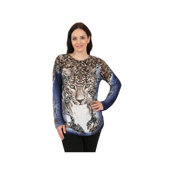 Damen-Longpullover `Look of the Leopard`