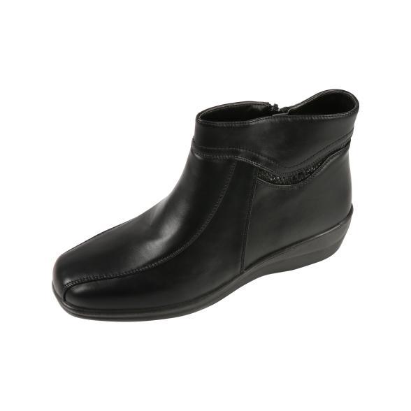TOPWAY Damen-Stiefelette, schwarz