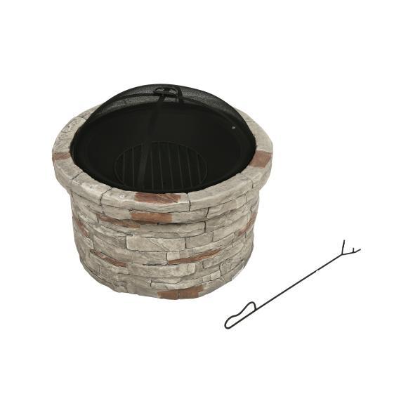 Feuerstelle Gladstone, Steinoptik antik