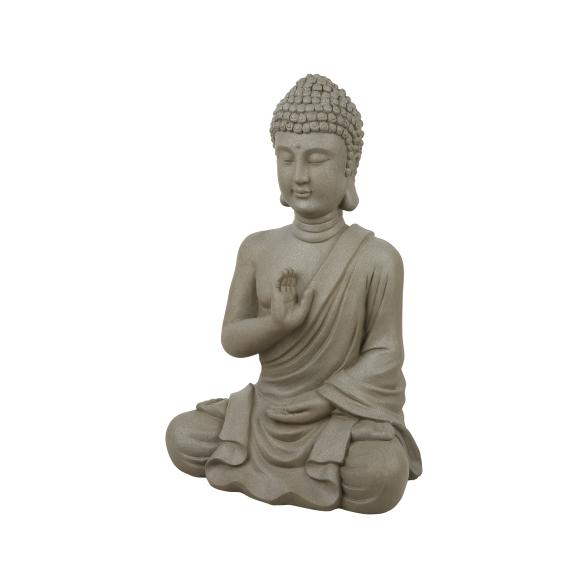 Meditierender Buddha, grau