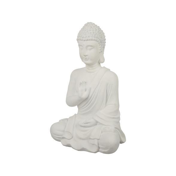 Meditierender Buddha, weiß