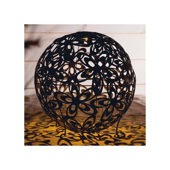 Solarleuchte Blumenkugel Bronze