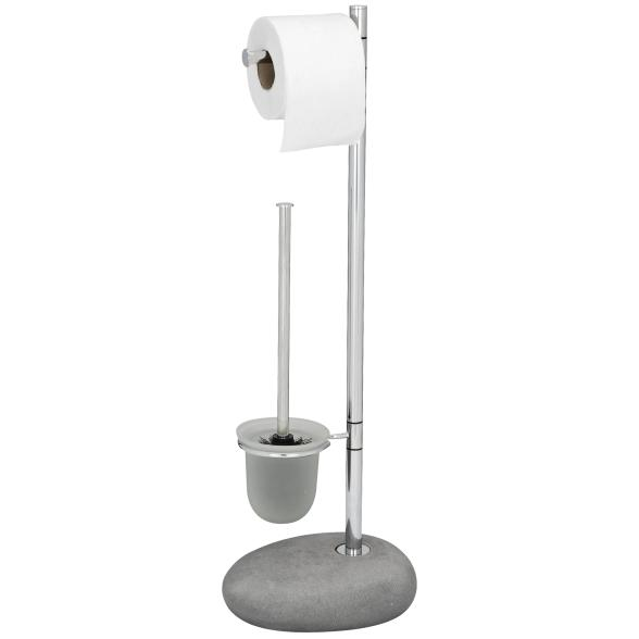 WENKO Stand WC-Garnitur Pebble Stone Grey