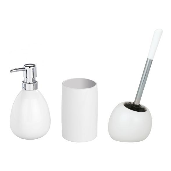WENKO Bad-Accessoire-Set Polaris White, 3-teilig