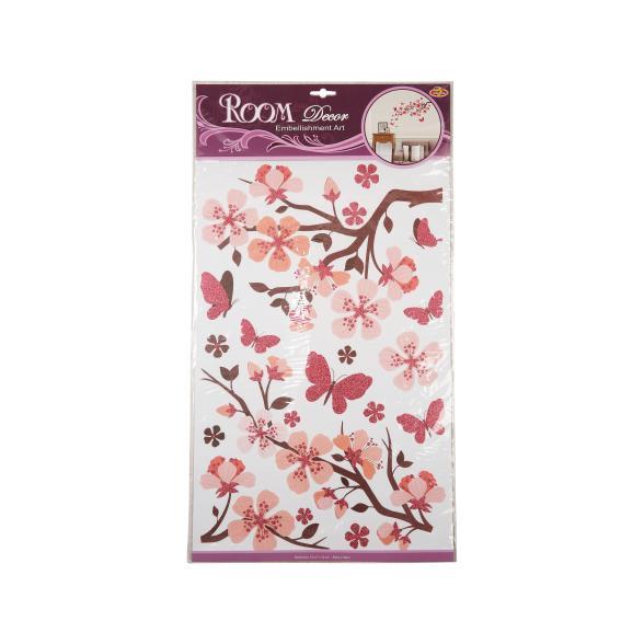Wand-Glitterdeko Kirschblüten