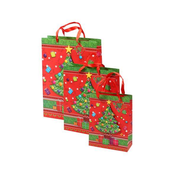 Geschenktaschen Weihnachten, 3er-Set